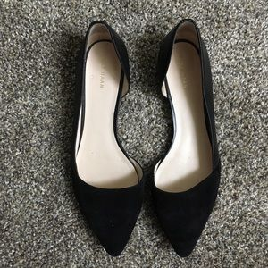 Cole Haan Pointed-toe D'Orsay Flats